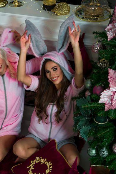 Grubszy Dres królik – krótki rękaw i nogawka