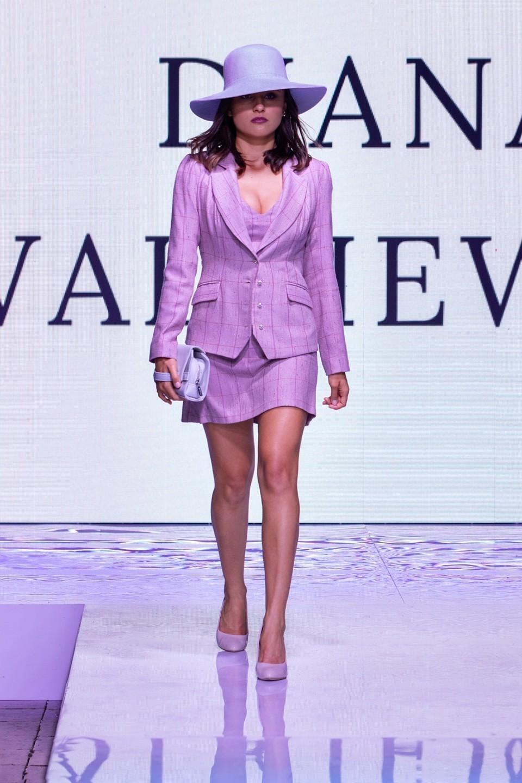 Lilac dress with a jacket