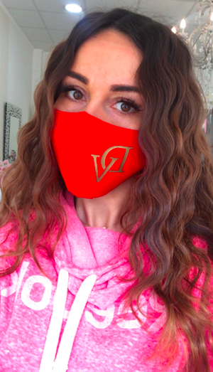 Red DeVu double-layer mask