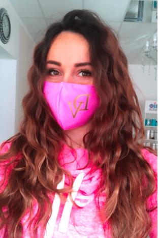 Maseczka ochronna DeVu – różowa