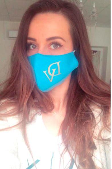 DeVu mask – cotton, blue color
