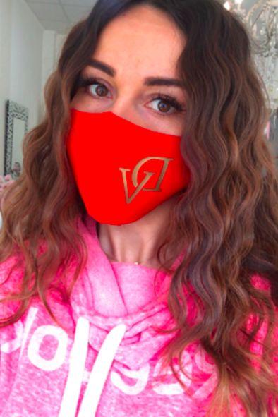 Red DeVu double-layer mask