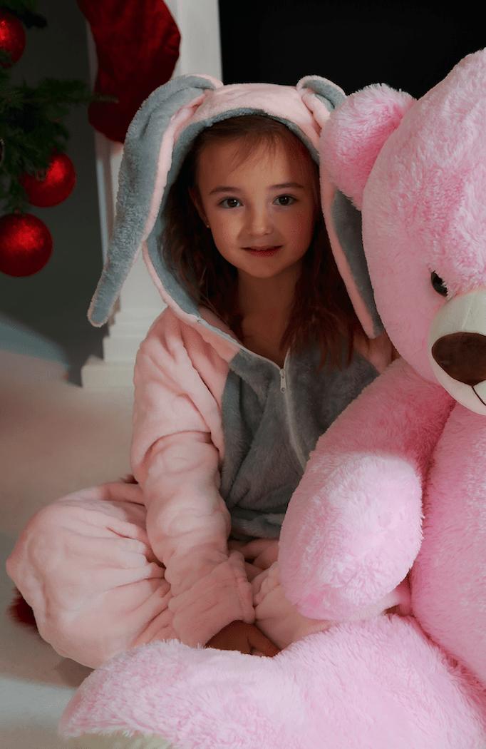 Cute bunny pink jumpsuit