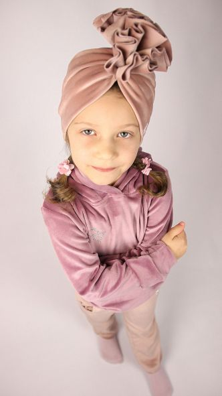 Dres dziewczęcy Królik w dwóch kolorach z turbanem z falbanką